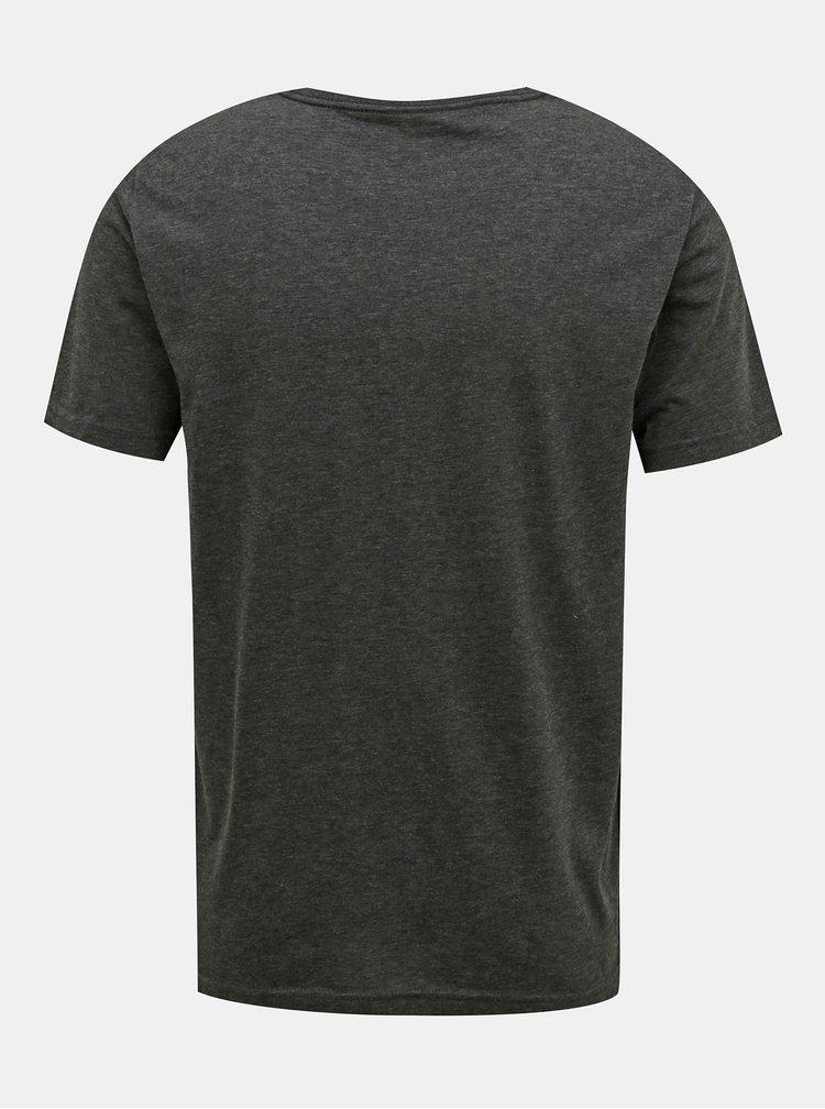 Tmavě šedé pánské tričko Puma