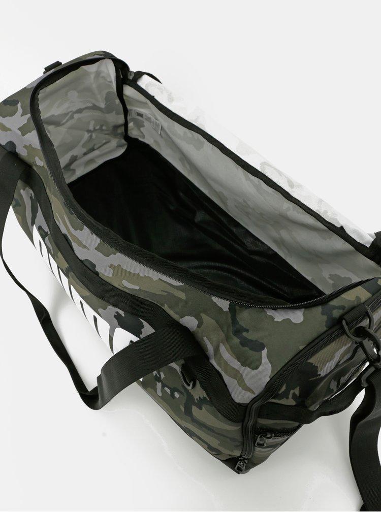 Šedo-zelená maskáčová cestovní taška Puma
