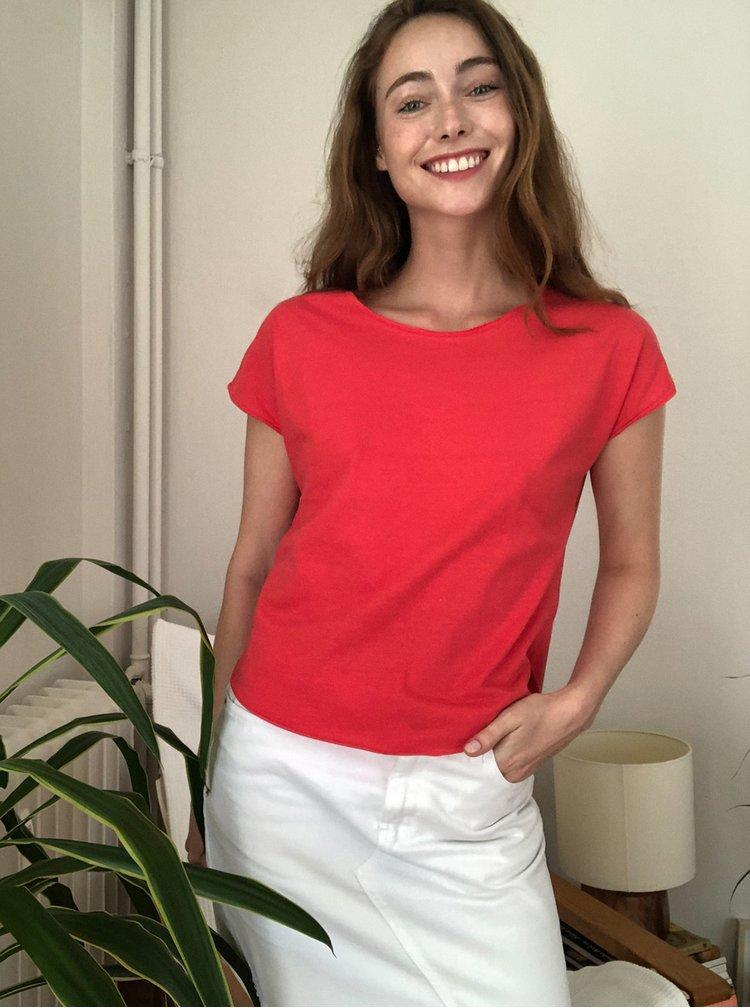 Červené basic tričko Trendyol