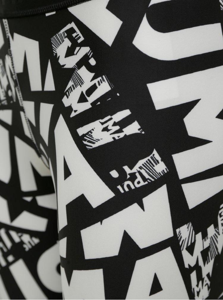 Bílo-černé dámské vzorované legíny Puma