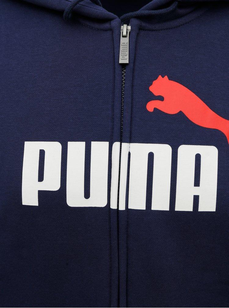 Modrá pánská mikina s kapucí Puma