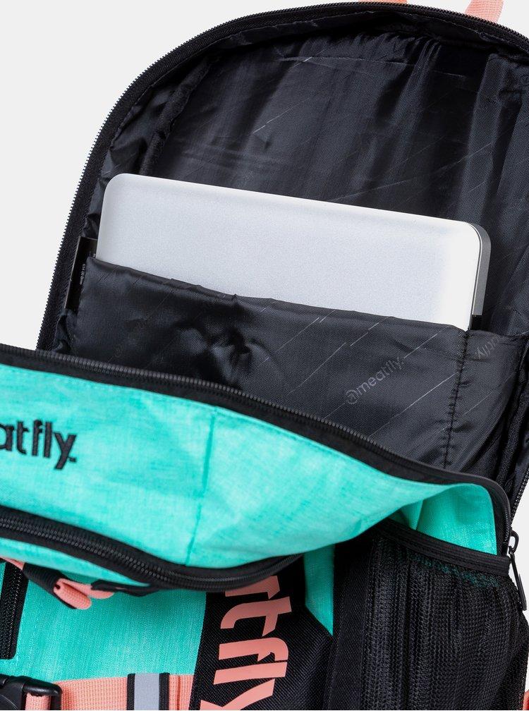 Černo-tyrkysový batoh Meatfly Basejumper