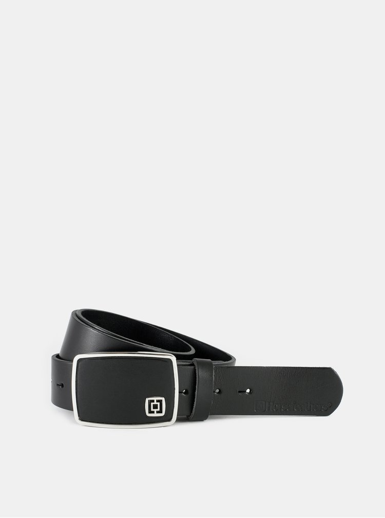 Černý pánský kožený pásek Horsefeathers