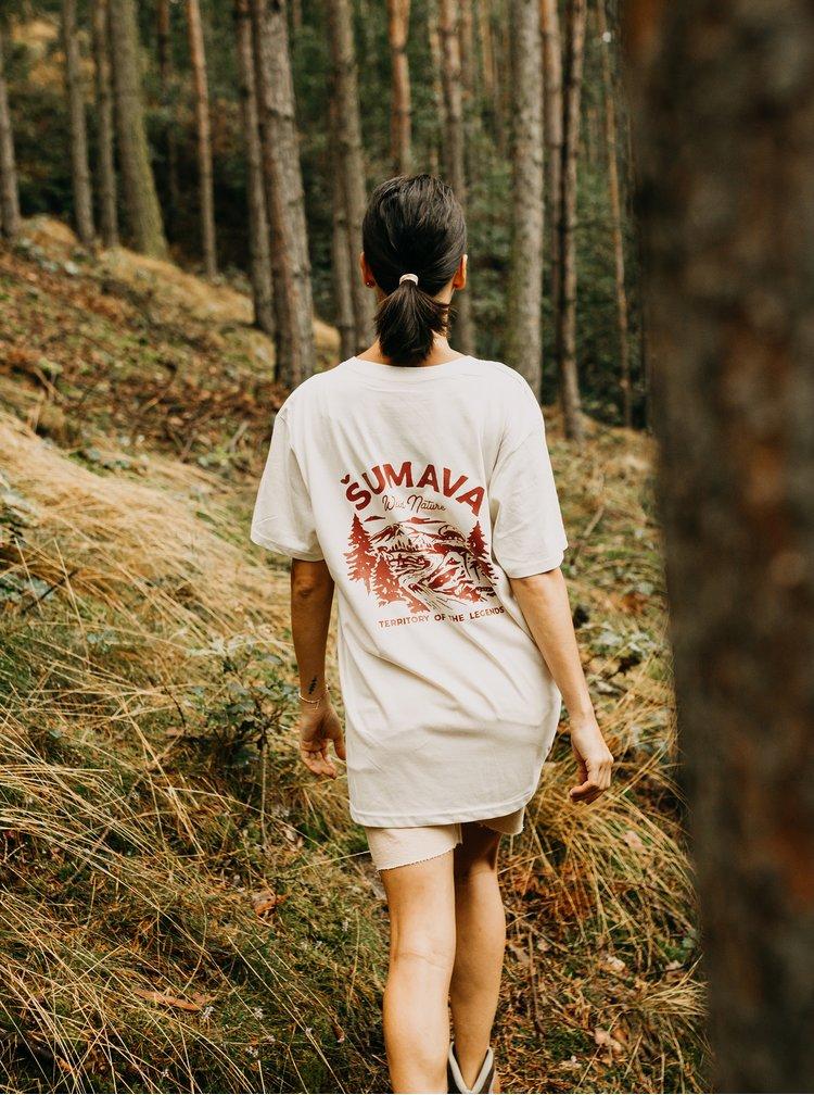 Krémové dámské oversize tričko ZOOT Original Šumava