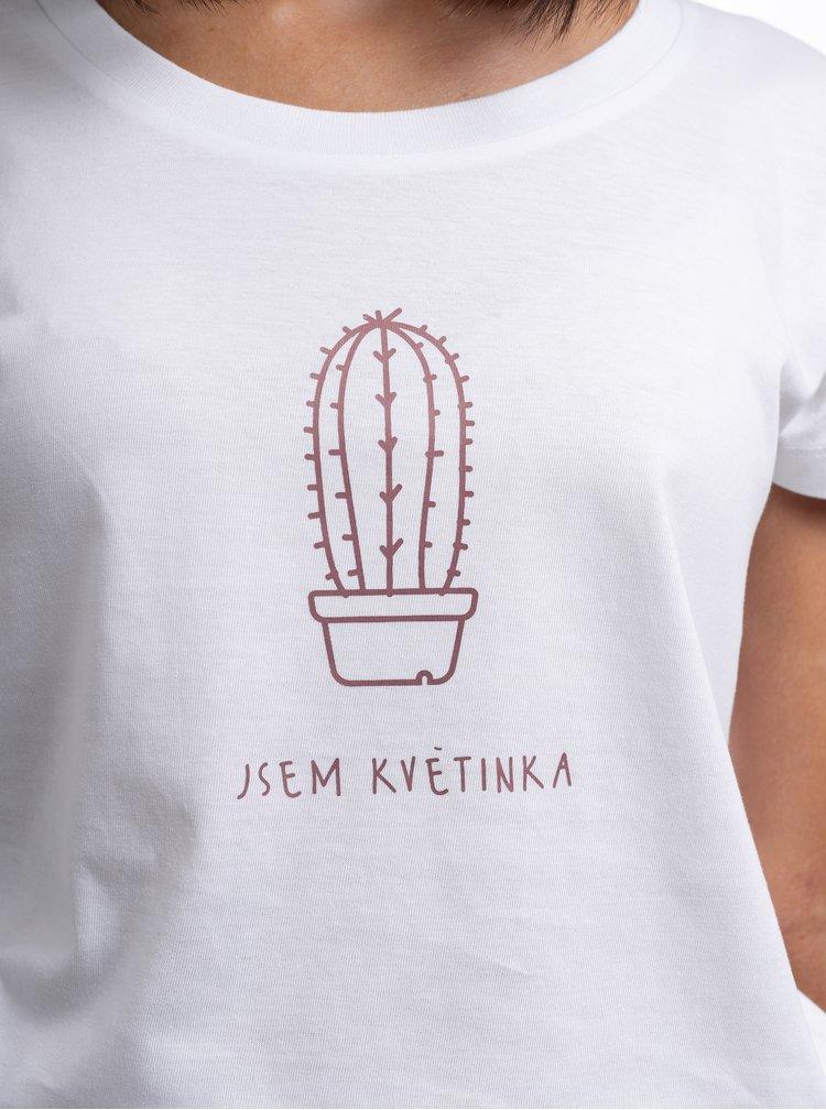 Bílé dámské tričko ZOOT Original Jsem květinka
