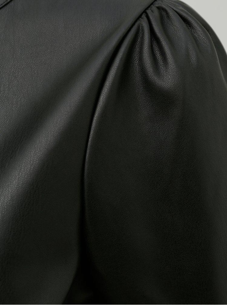 Čierna koženková blúzka Noisy May Hill