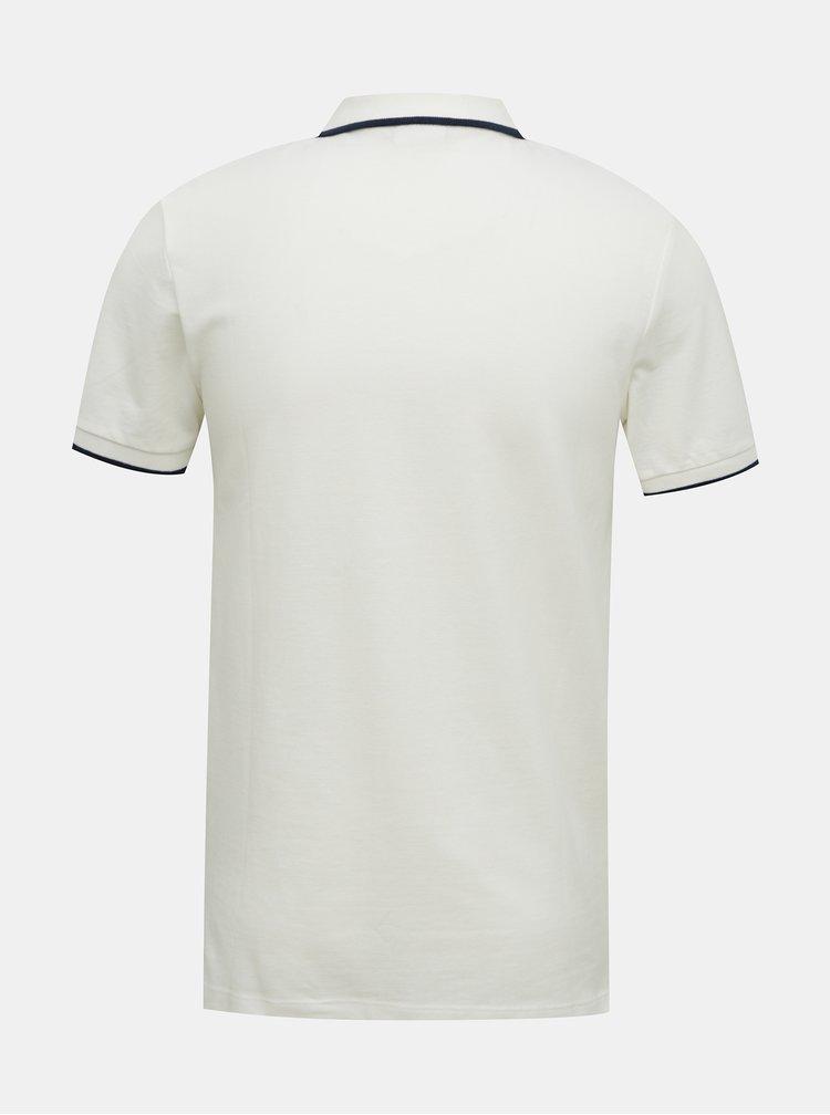 Krémové polo tričko Jack & Jones Shaker
