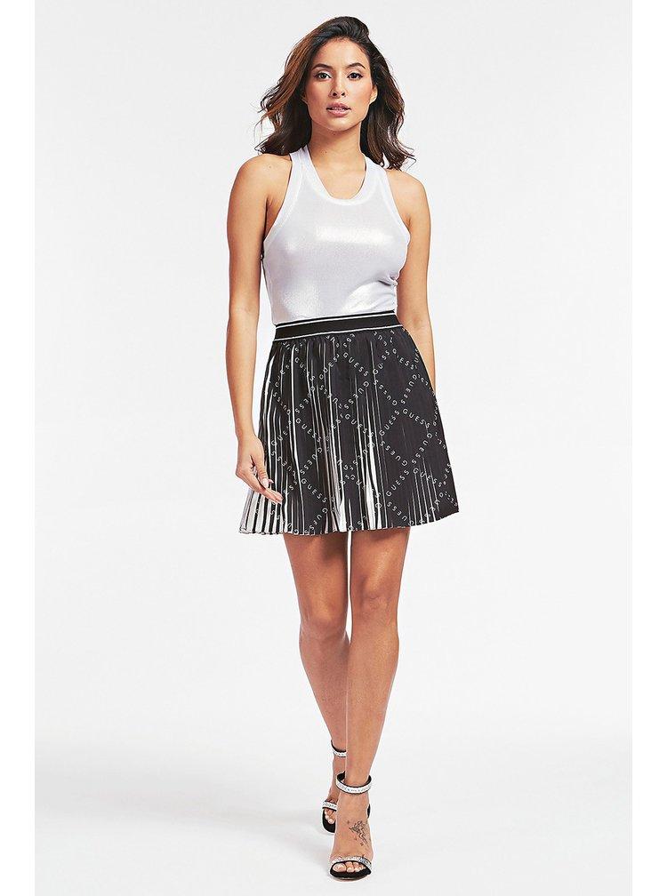 Guess černo-bílá sukně Gonna Plissettata