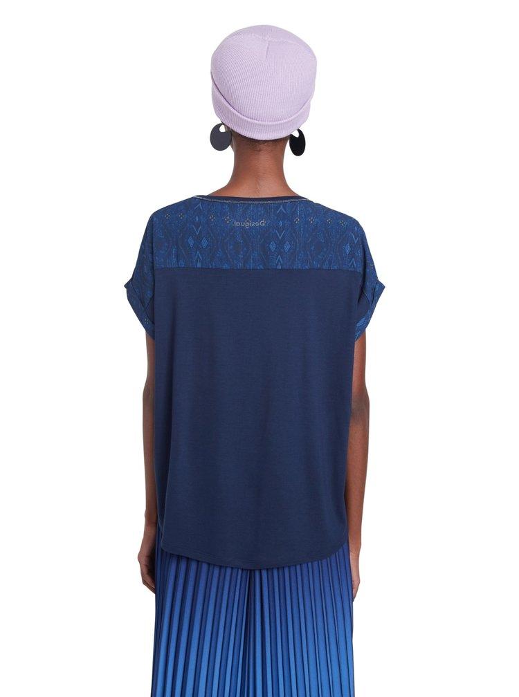 Desigual modré tričko TS Detroit
