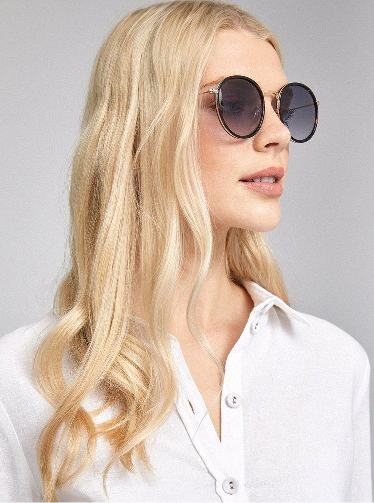 Černé vzorované sluneční brýle Dorothy Perkins