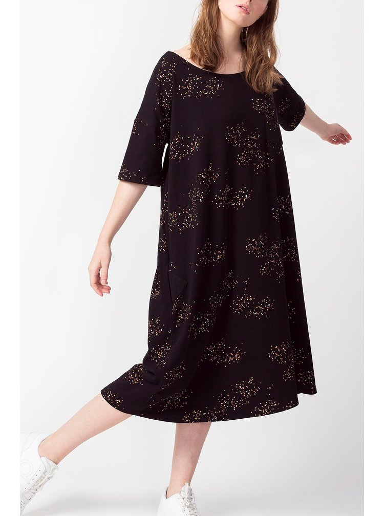 SkunkFunk černé oversize šaty Melia