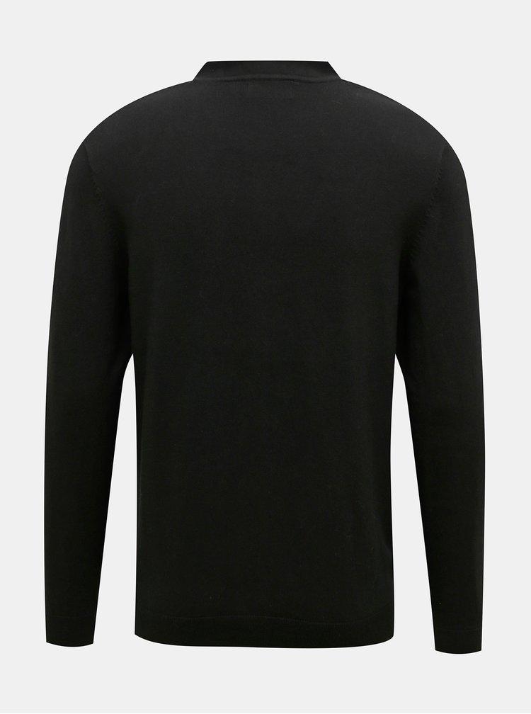 Černý kardigan Burton Menswear London