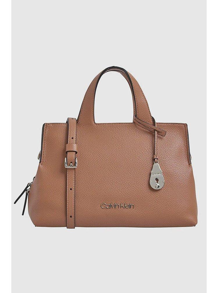 Calvin Klein hnědá kabelka Neat tote MD