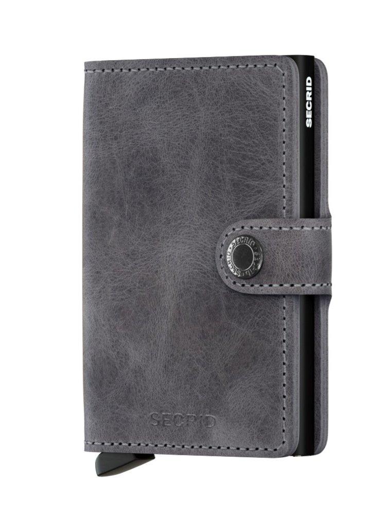 Secrid speciální kožená peněženka Mini Wallet Vintage Grey