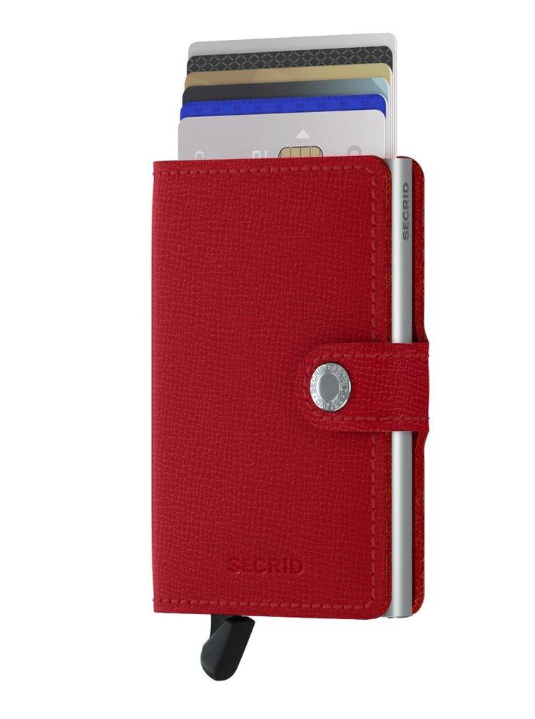 Secrid speciální kožená peněženka Mini Wallet Crisple Red