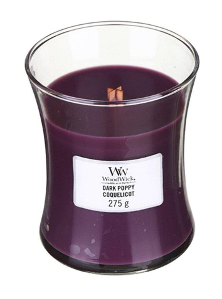 WoodWick vonná svíčka Dark Poppy střední váza