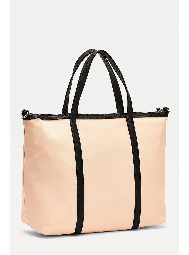 Tommy Hilfiger béžová kabelka Metal Logo Shoulder Bag