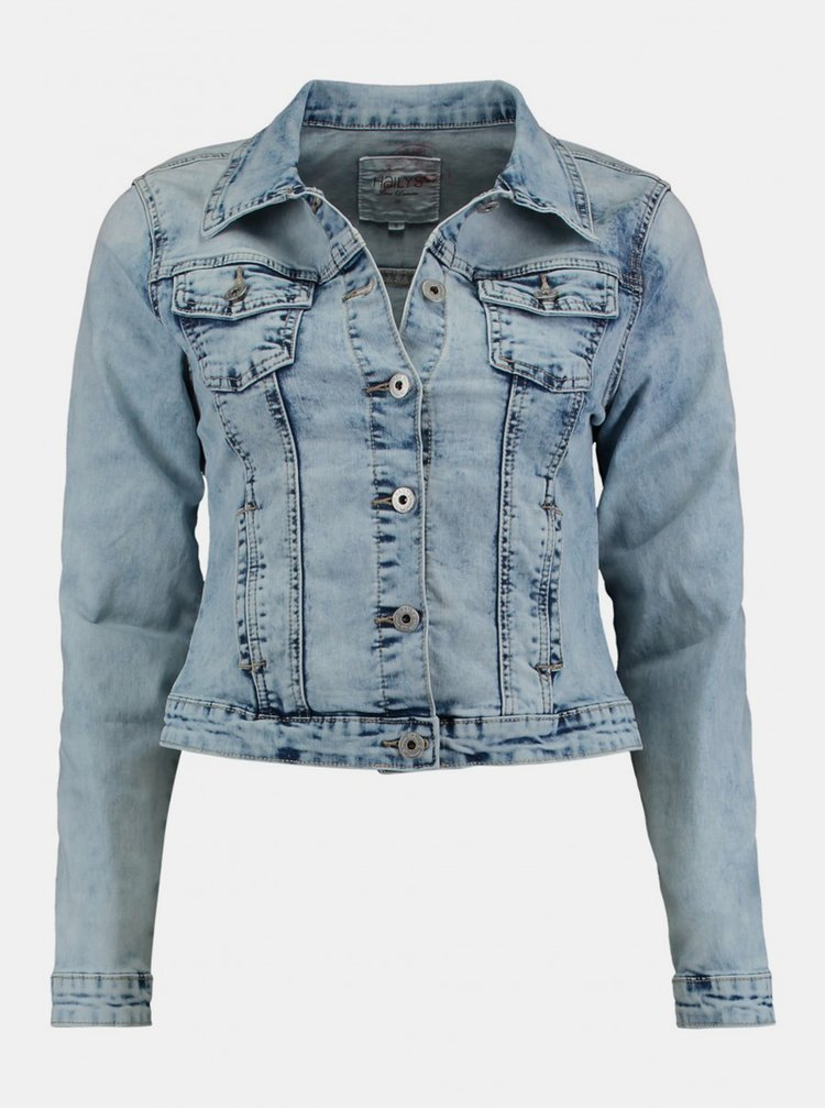 Jachete din denim pentru femei Hailys - albastru
