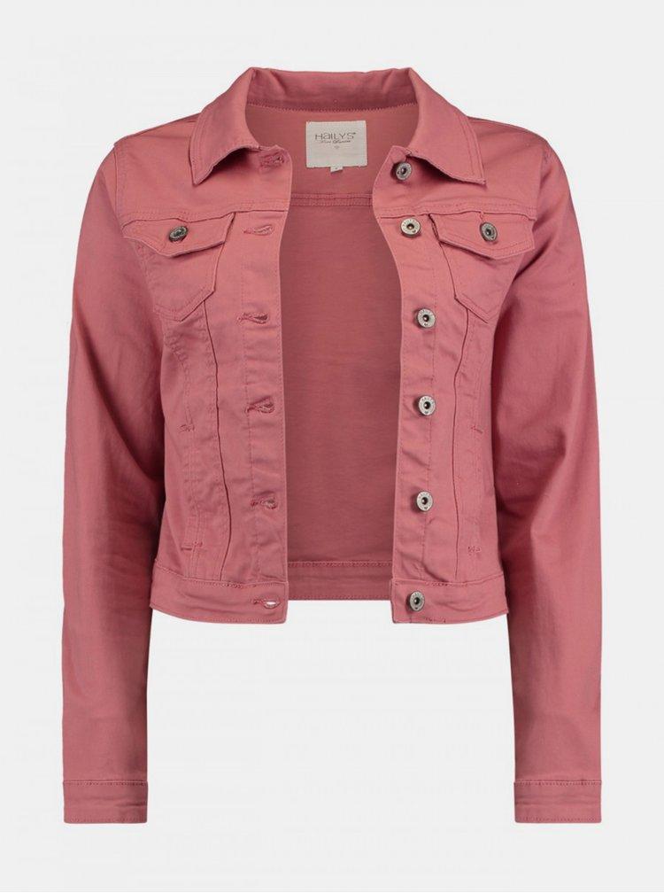 Jachete din denim pentru femei Hailys - roz