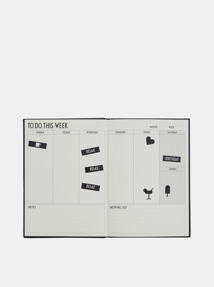 Design Letters - negru