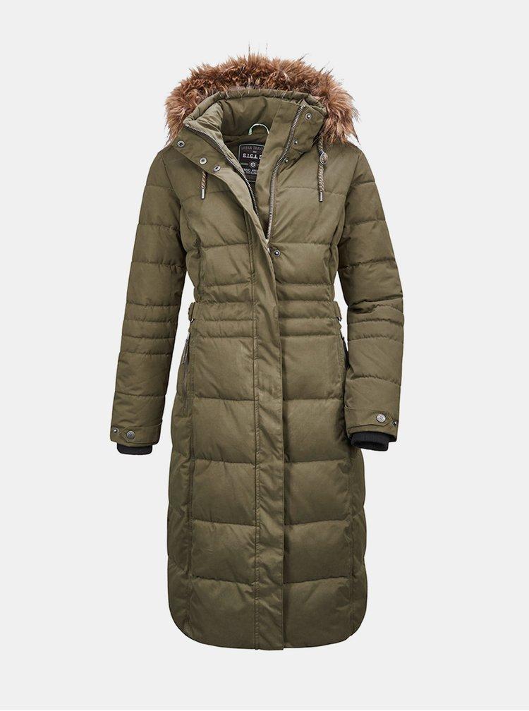 Khaki dámský prošívaný kabát killtec