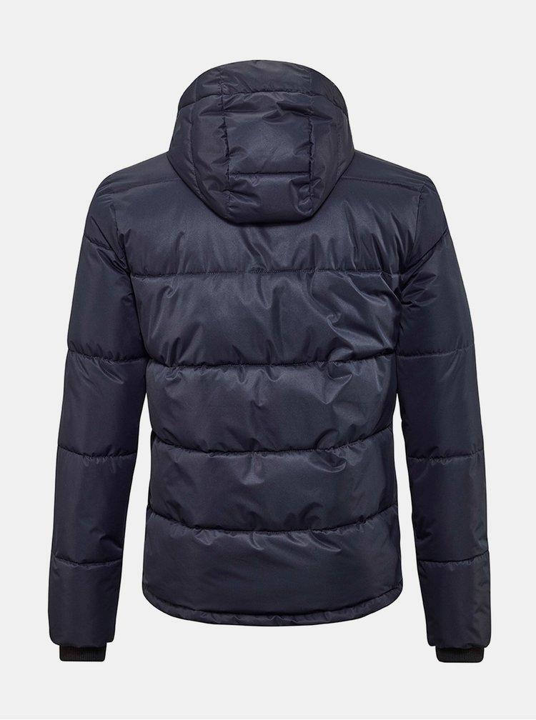 Tmavě modrá pánská zimní prošívaná bunda killtec
