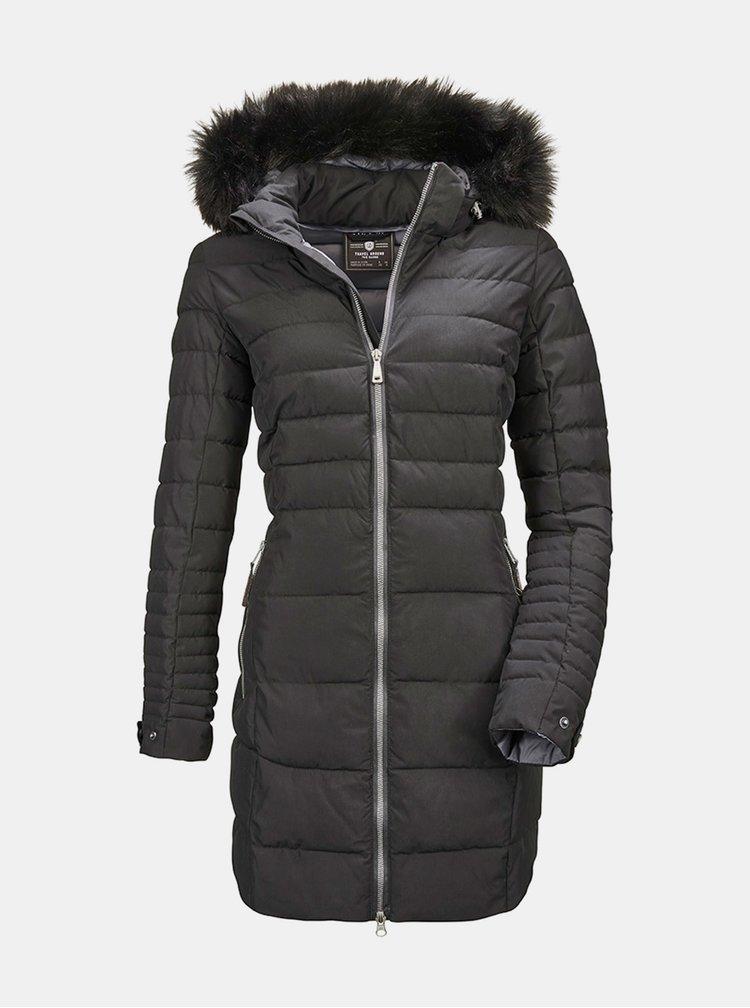 Černý dámský prošívaný kabát killtec