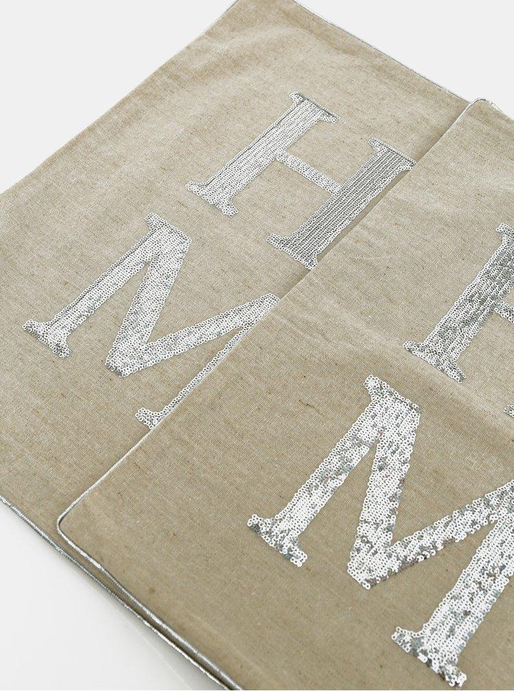 Béžový povlak na polštář Dakls