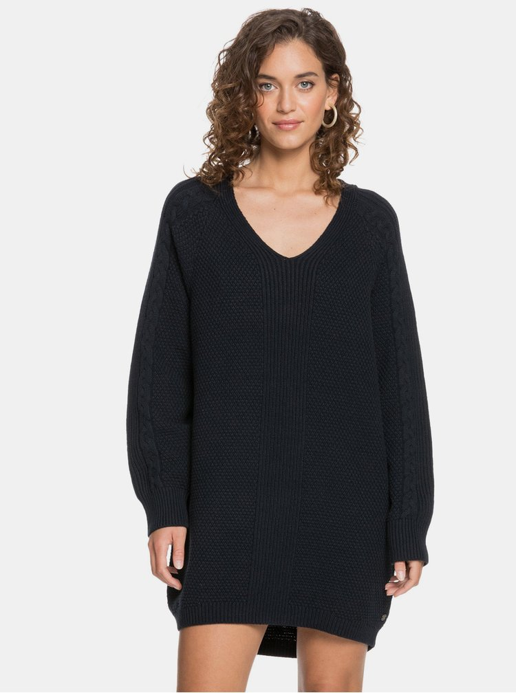 Rochii tip hanorac sau pulover pentru femei Roxy - negru