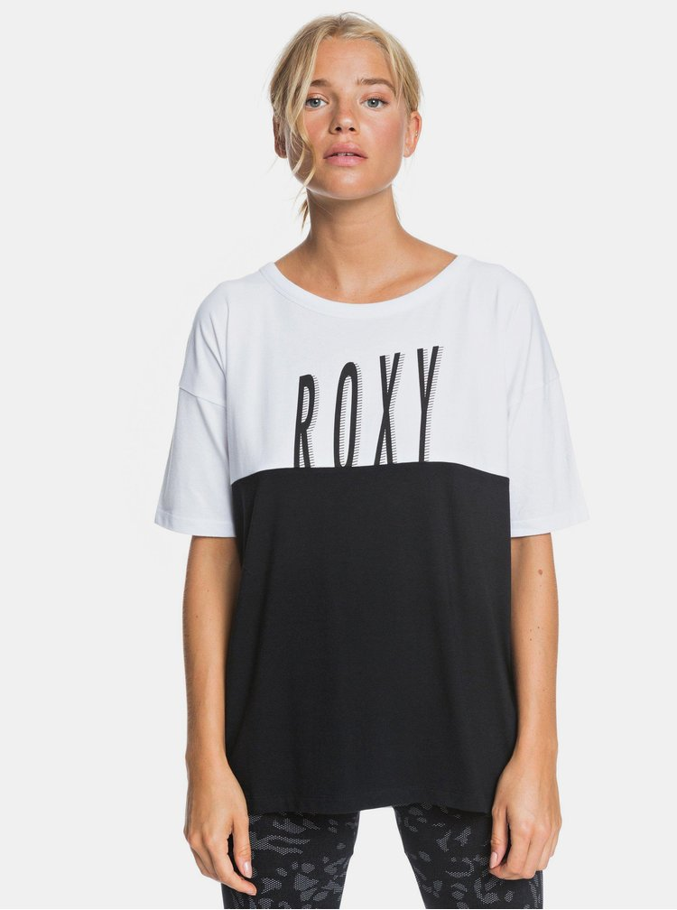 Tricouri pentru femei Roxy - negru, alb