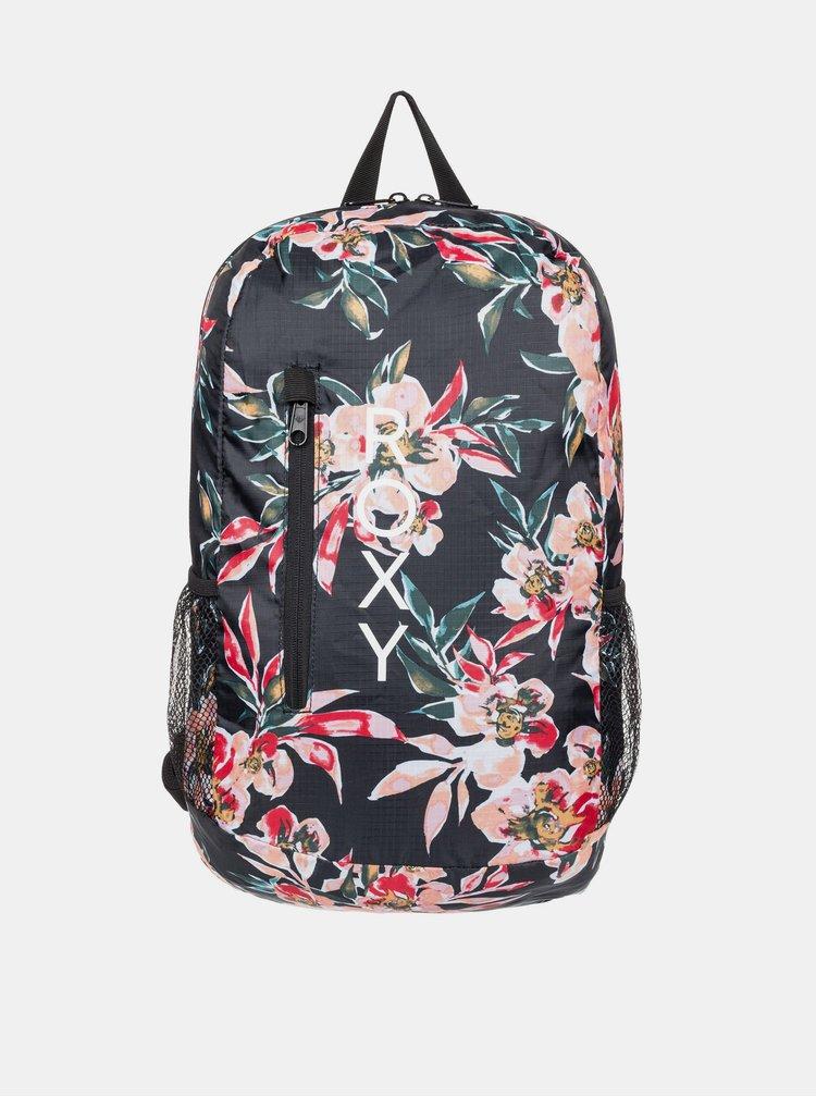 Černý květovaný batoh Roxy