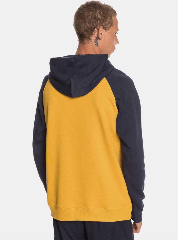 Pulovere cu gluga pentru barbati Quiksilver - galben, albastru inchis