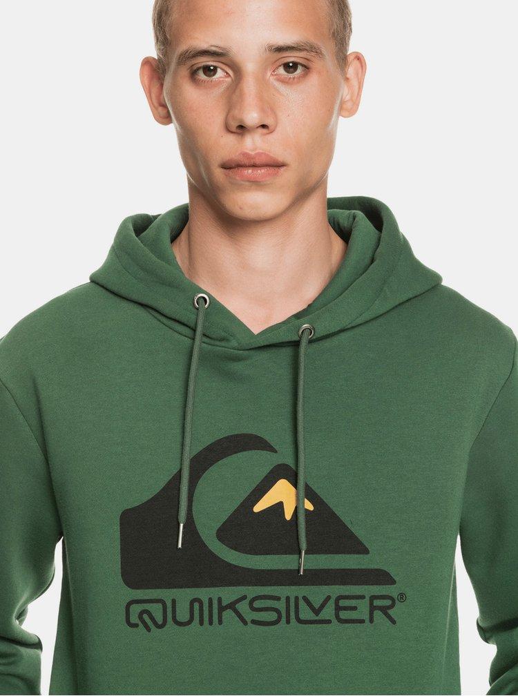 Pulovere cu gluga pentru barbati Quiksilver - verde inchis