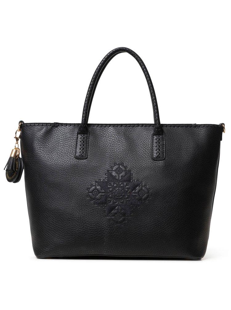 Desigual černá velká kabelka Bols Alegria Holbox