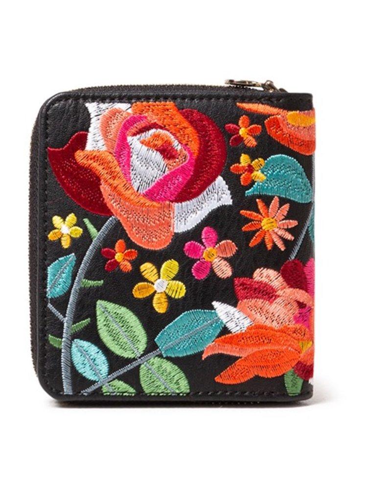 Desigual malá peněženka Mone Concordia Lucia s barevnou výšivkou