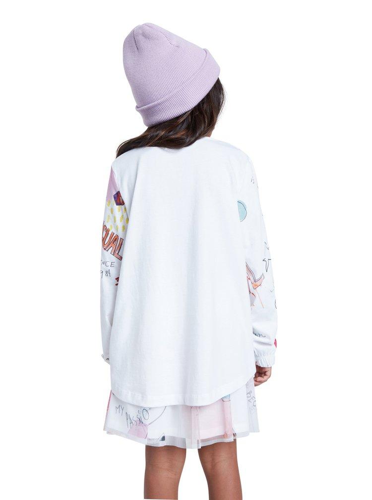 Desigual bílé dívčí tričko TS Gracia