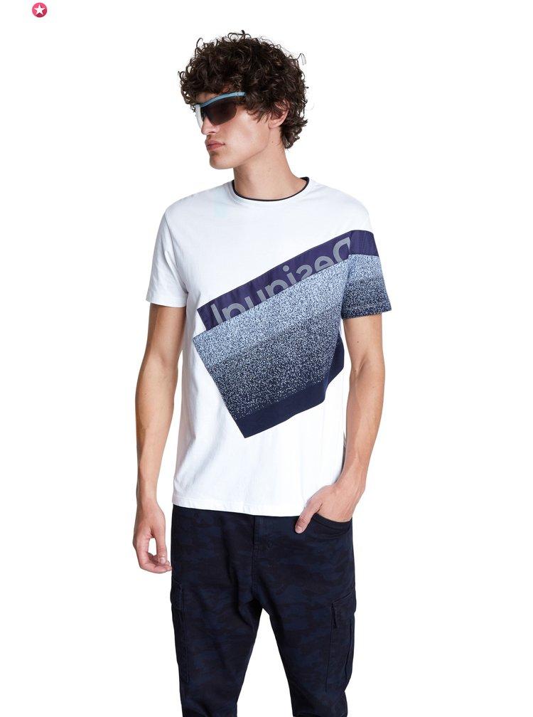 Desigual bílé pánské tričko TS David