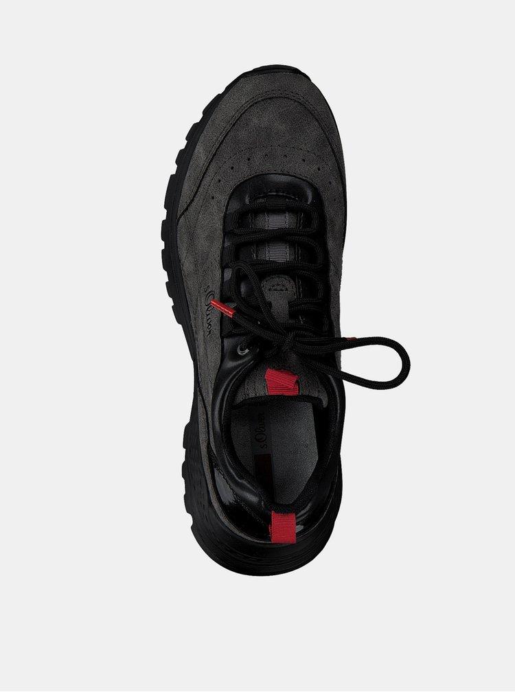 Pantofi sport si tenisi pentru femei s.Oliver - gri