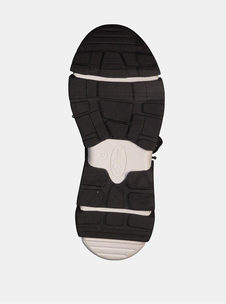 Pantofi sport si tenisi pentru femei s.Oliver - negru, alb