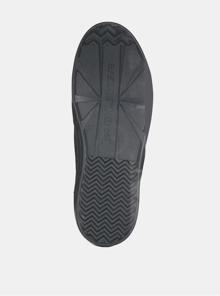 Pantofi sport si tenisi pentru femei s.Oliver - negru
