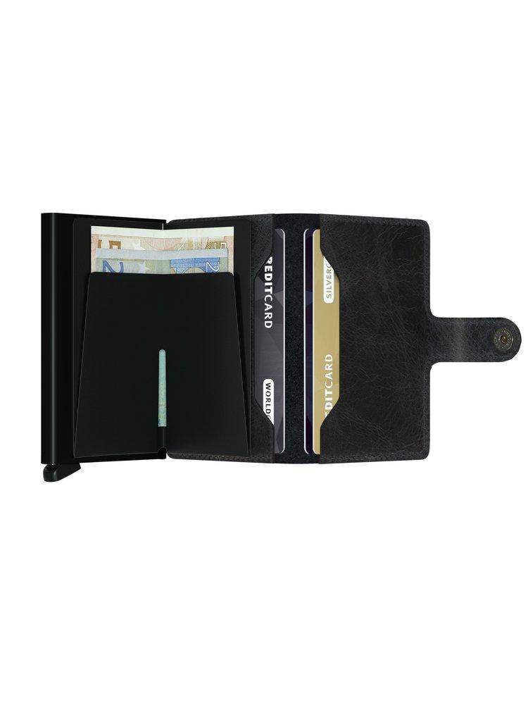 Secrid speciální kožená peněženka Mini Wallet Vintage Black