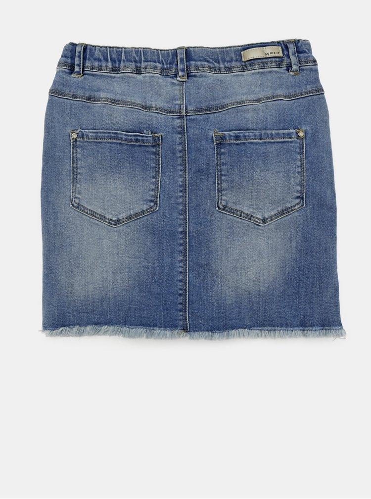 Modrá holčičí džínová sukně s nášivkami name it Minnie