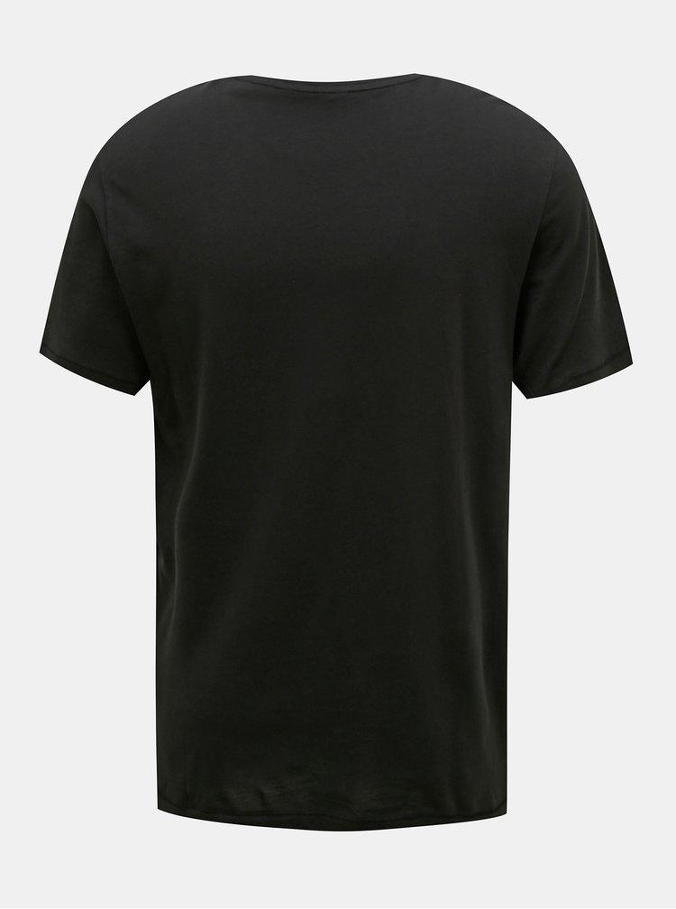 Černé tričko s potiskem ONLY & SONS Mike
