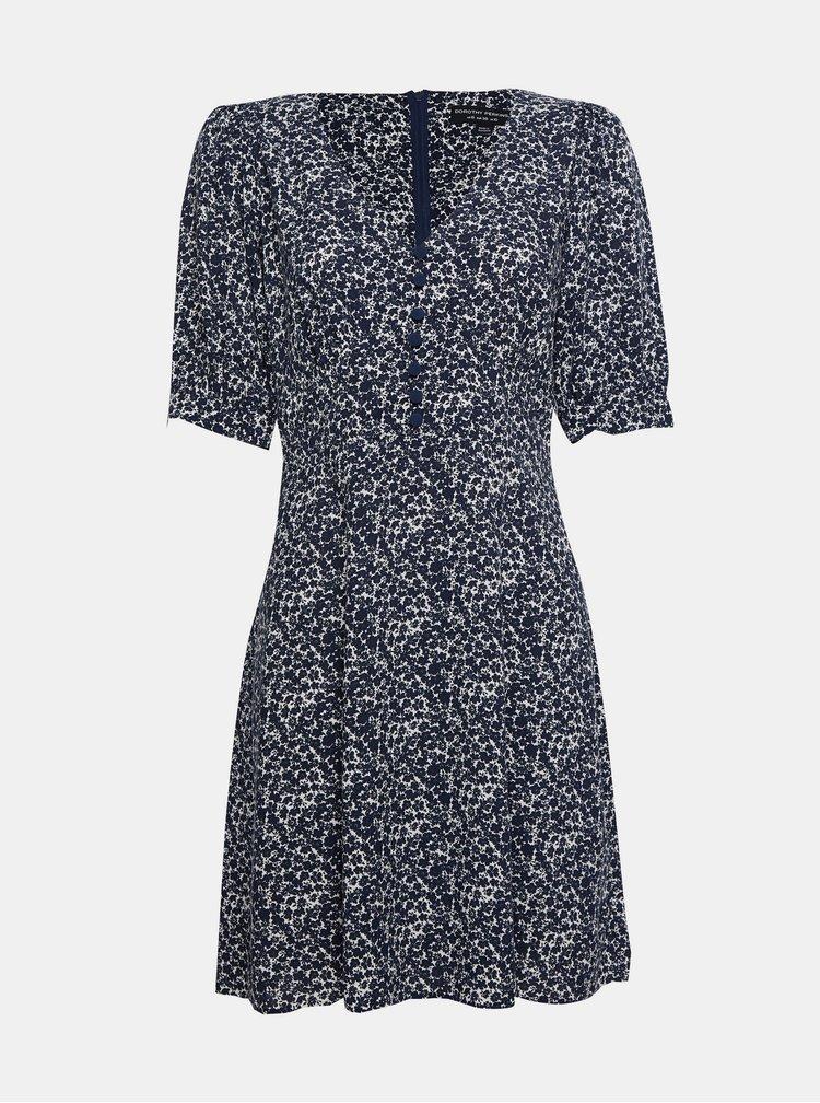 Modré květované šaty Dorothy Perkins