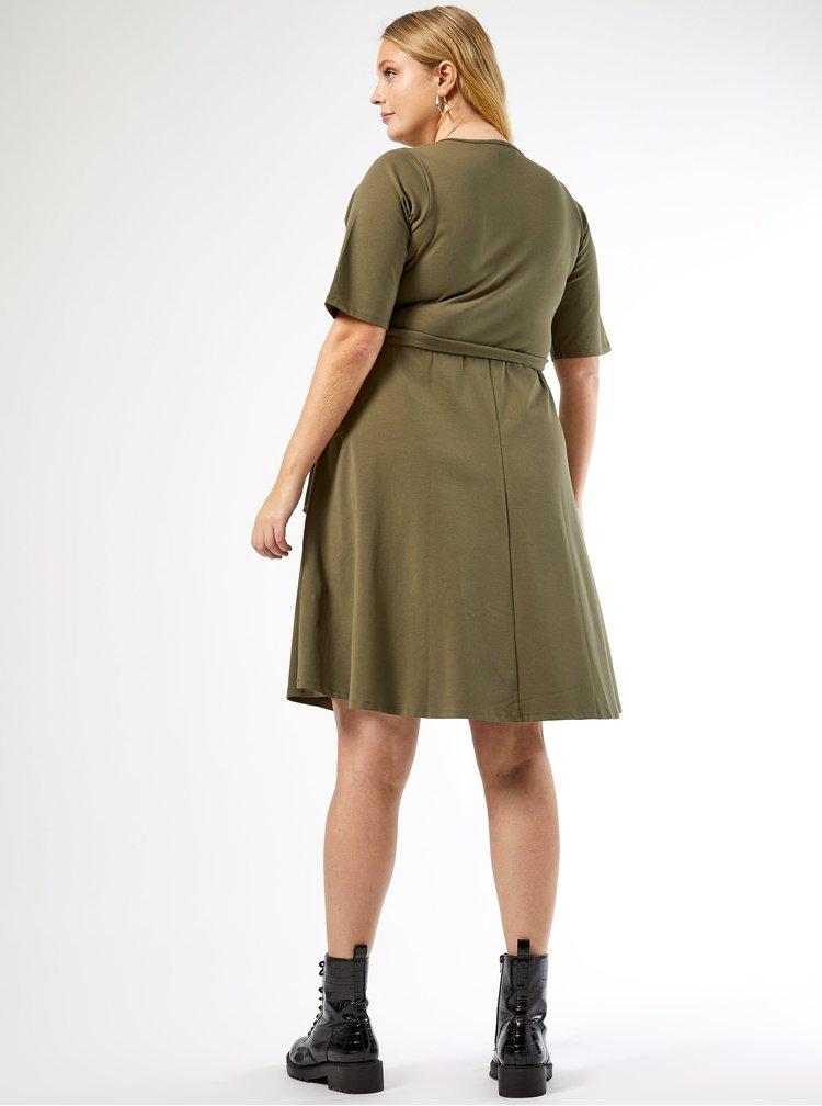 Khaki šaty Dorothy Perkins Curve