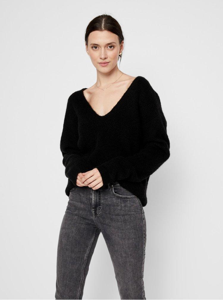 Čierny sveter Pieces Babett