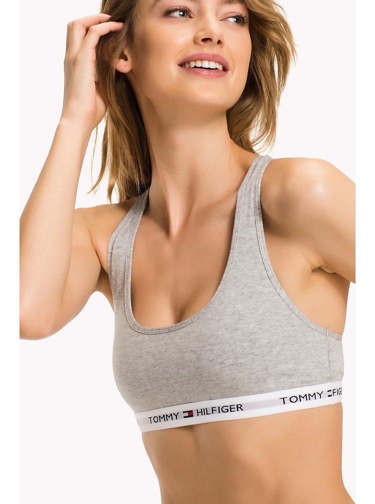 Tommy Hilfiger šedá sportovní podprsenka Bralette Iconic Basic