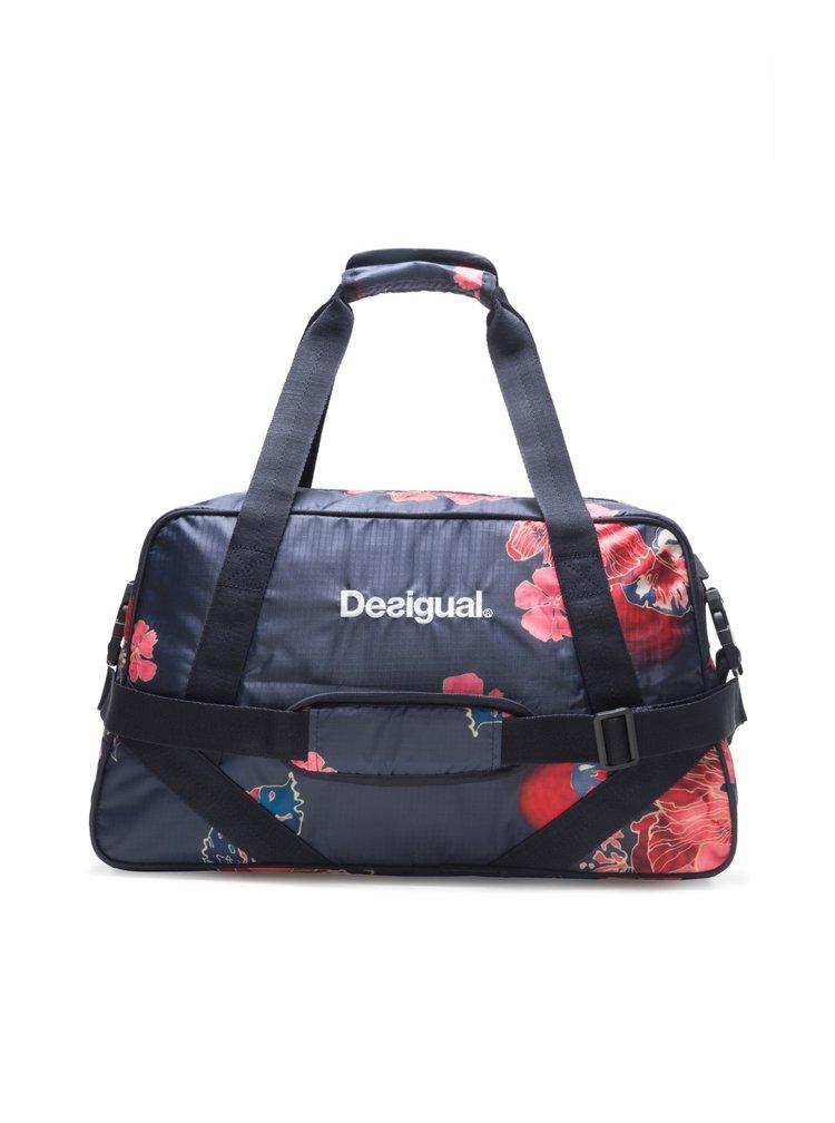 Desigual tmavě modrá sportovní taška Scarlet Bloom