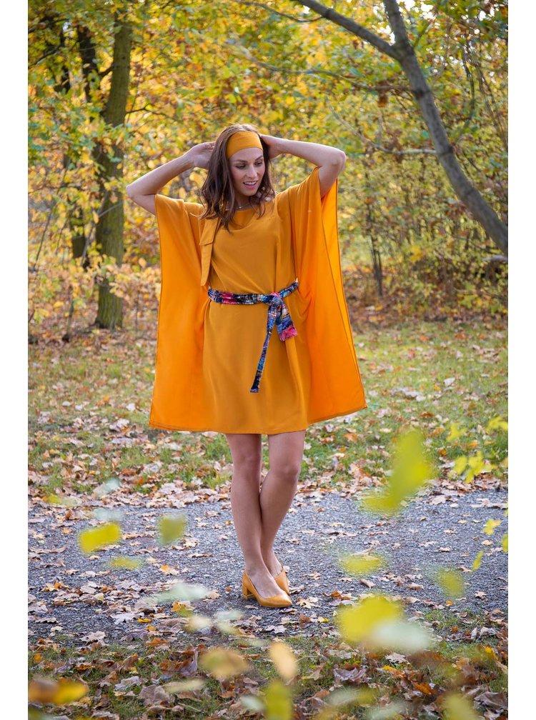 Simpo hořčicové šaty Waterfall Yellow