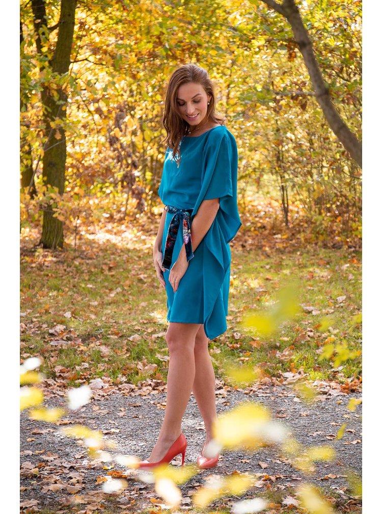 Simpo modré šaty Waterfall Blue